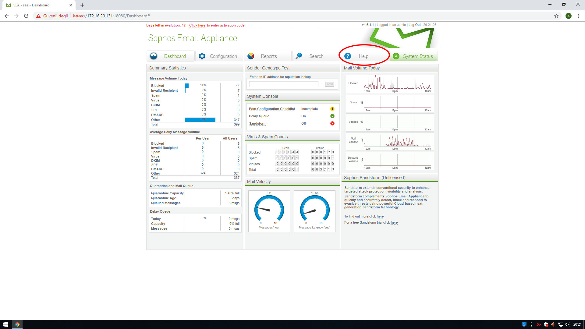 Sophos E-Mail Appliance için Lisanslama